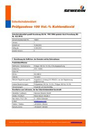 Sicherheitsdatenblatt Prüfgasdose 100 Vol.-% Kohlendioxid - Sewerin