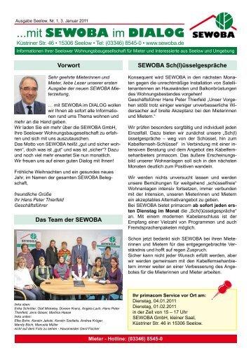 Ausgabe Seelow, Nr. 1, 3. Januar 2011 - Sewoba