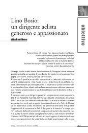 Lino Bosio: un dirigente aclista generoso e appassionato - Enaip