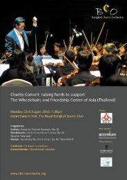 Download Concert Programme (6MB) - Bangkok Charity Orchestra