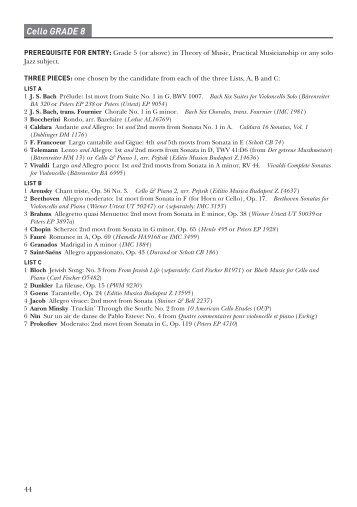 Cello GRADE 8 - ABRSM
