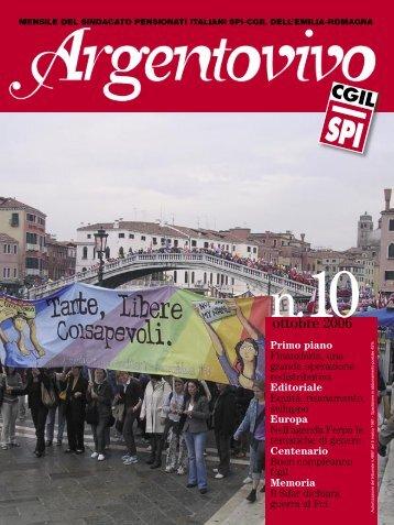 Argentovivo - ottobre 2006 - Spi-Cgil Emilia-Romagna