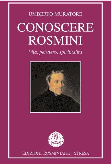 CONOSCERE ROSMINI - La Nuova Regaldi
