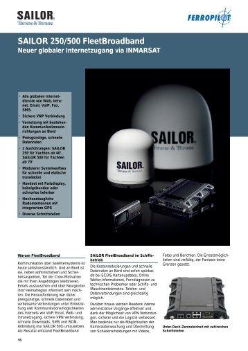 SAILOR 250/500 Fleetbroadband Neuer globaler ... - Ferropilot