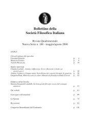 Bollettino n. 188 - Società Filosofica Italiana