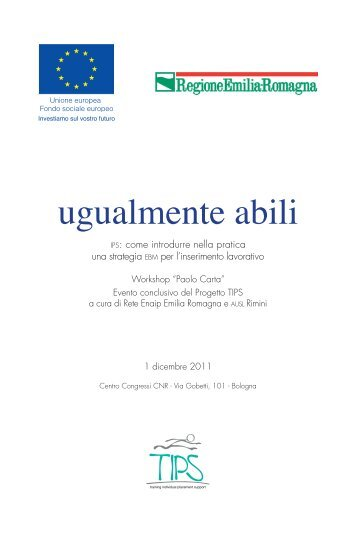 "Atti workshop IPS - ENAIP - Fondazione ""Don G. Magnani"""
