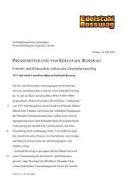 PRESSEMITTEILUNG VON EDELSTAHL ROSSWAG