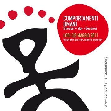 scarica il programma completo 2011 in pdf - Comportamenti Umani