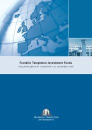 Franklin Templeton Investment Funds