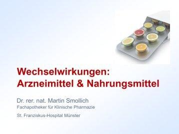 Wechselwirkungen: Arzneimittel & Nahrungsmittel - St. Franziskus ...