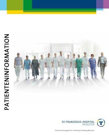 Broschüre herunterladen - St. Franziskus-Hospital