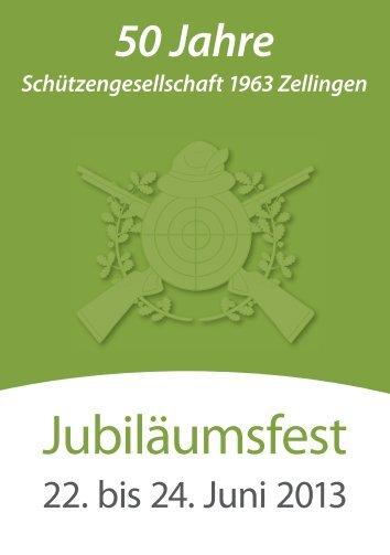 Flyer 50 jähriges Jubiläum der Schützengesellschaft 1963 e.V.