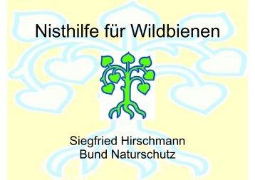 Vortrag über Wildbienen von Herrn Hirschmann - SFZ-Hof