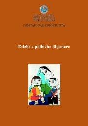 Etiche e politiche di genere - Università degli Studi di Bari