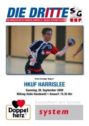 HKUF HArrislee - SG Flensburg-Handewitt