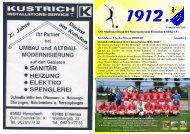 Stadionheft 1912. Ausgabe 1 - Sportgemeinde Hemsbach 1912 eV