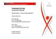 TRAININGSPLAN - SG Flensburg-Handewitt