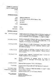 CV dr Messana - Ospedale Civico di Palermo