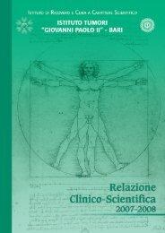 Relazione clinico scientifica 2007-2008 - Istituto Tumori Giovanni ...
