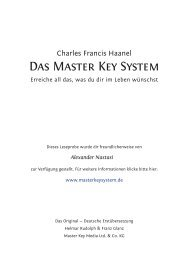 Das Master Key System - Seminar Service Nastasi