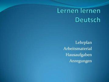 Lernen lernen Deutsch