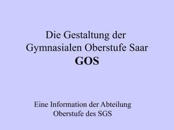 Präsentation zur Hauptphase der GOS (PDF-Datei, ca. 197 KB)