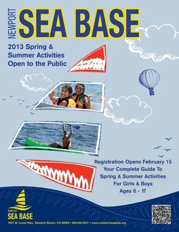 2013 Spring & Summer Activities Open to the Public