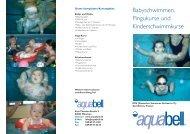 Babyschwimmen, Pingukurse und Kinderschwimmkurse