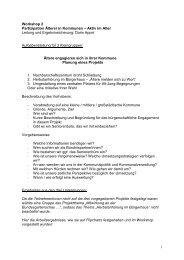 Zusammenfassung der Workshopergebnisse