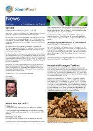 Vorwort Neues vom Holzmarkt Handel mit Plantagen-Teakholz