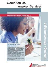 Catering / Veranstaltungen - Schwäbisch Hall Facility Management