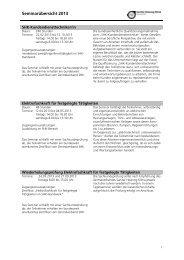 Seminarübersicht 2013 - Innung Sanitär Heizung Klima Köln