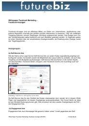 Whitepaper Facebook Marketing - Facebook Anzeigen - 1-