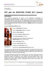 EFP gibt die SHOOTING STARS 2011 bekannt - European Film ...