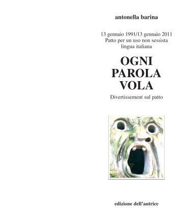 Ogni parola vola.pdf - Edizione dell'Autrice