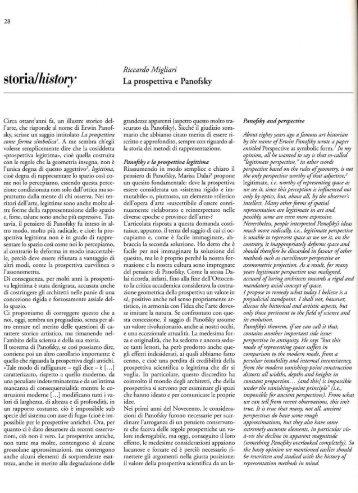 La prospettiva e Panofsky - Riccardo Migliari