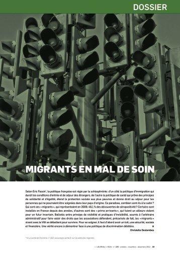 migrants en mal de soin - Arcat
