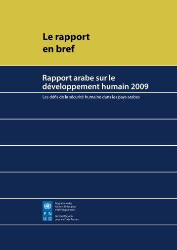 Le rapport en bref
