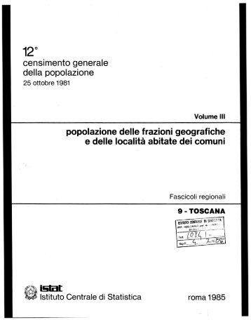 censimento generale della popolazione popolazione delle ... - Istat