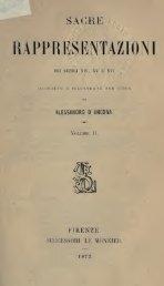 Sacre rappresentazioni dei secoli XIV, XV, e XVI - Centrostudirpinia.it