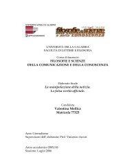 FILOSOFIE E SCIENZE DELLA COMUNICAZIONE E DELLA ...