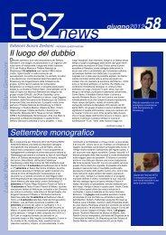 ESZ NEWS N. 58_giugno 2012.pdf - Edizioni Suvini Zerboni