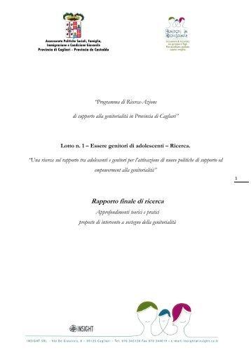 HU: Percezione del rischio nei genitori - Sociale - Provincia di Cagliari