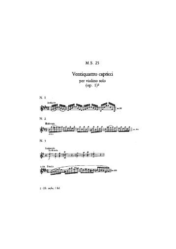 Catalogo Tematico delle musiche di Niccolò Paganini - M.S. 25