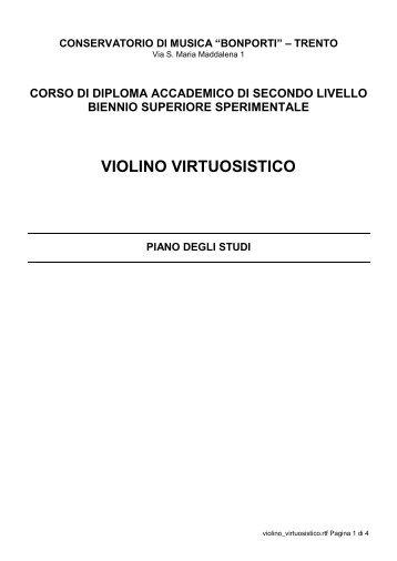 VIOLINO VIRTUOSISTICO - Conservatorio di Musica FA Bonporti