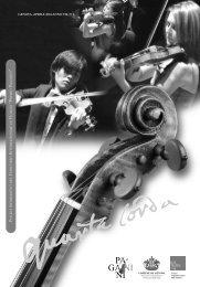 Scarica Quarta Corda in pdf - Paganini - Comune di Genova