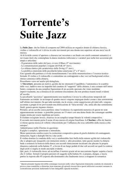 Torrente's Suite Jazz - Emanuele Cintura Torrente