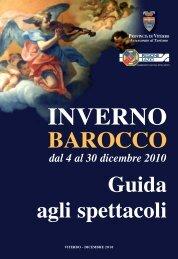 guida agli spettacoli 2010 - Provincia di Viterbo