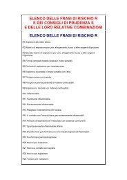 ELENCO DELLE FRASI DI RISCHIO R - Artiglio
