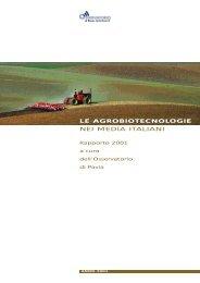 Rapporto OGM 2001 - Osservatorio di Pavia